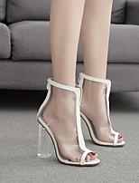 cheap -Women's Sandals Summer Chunky Heel Open Toe Daily PU White