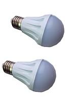 cheap -2pcs 3 W LED Globe Bulbs 300 lm E14 E26 / E27 15 LED Beads SMD 5730 Warm White White 9-30 V