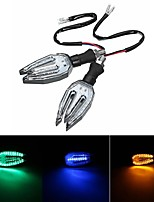 cheap -Universal 12V LED Motorcycle/Motorbike Turn Signal Indicators Blinker Lights Lamp Bulb 5colors