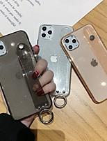 Недорогие -чехол для карты яблока сцены iphone 11 11 pro 11 pro max x xs xr xs max 8 изысканный узор бордюр сплошной цвет блестящий розовый полупрозрачный материал тпу кронштейн для браслета все включено чехол