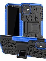 cheap -Case For Apple iPhone 11 / iPhone 11 Pro / iPhone 11 Pro Max Shockproof / with Stand Back Cover Lines / Waves TPU