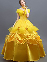 cheap -Princess Fairytale Belle Dress Flower Girl Dress Women's Movie Cosplay A-Line Slip Yellow Dress Halloween Carnival Masquerade Tulle Cotton