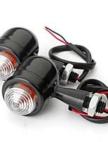 cheap -4pcs Black Clear Lens Mini Bullet Bulb Turn Signal Black Front Rear Light For Harley