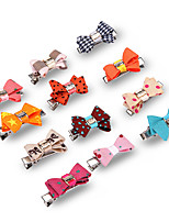 cheap -Dog Cat Pets Ornaments Hair Accessories Portable Mini Soft Cute and Cuddly For Dog / Cat Casual Cute Color Block Animal Cartoon Fabric Rainbow 8pcs