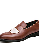 cheap -Men's Summer / Fall Classic / Casual Daily Office & Career Loafers & Slip-Ons Faux Leather Non-slipping Wear Proof Black / Blue / Brown Color Block