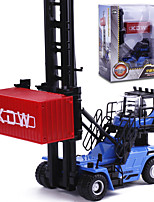cheap -1:50 Metal Forklift Diecast Vehicle Stacker Parent-Child Interaction Boys' Kids Car Toys