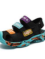 cheap -Boys' Comfort Microfiber Sandals Flat Sandals Little Kids(4-7ys) / Big Kids(7years +) Black / Blue Summer / Fall / 3D / Slogan