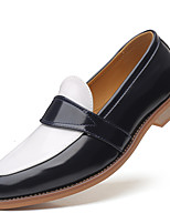 cheap -Men's Summer / Fall Classic / Casual Daily Office & Career Loafers & Slip-Ons PU Non-slipping Wear Proof Yellow / Blue / Brown Color Block