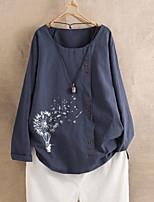 cheap -Women's Geometric Print Loose T-shirt Daily Blue / Green