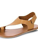cheap -Women's Sandals Flat Sandals Summer Flat Heel Round Toe Daily PU Khaki / Brown / Bunion Sandals