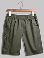 """cheap -Men's Hiking Shorts Summer Outdoor 10"""" Standard Fit Breathable Quick Dry Sweat-wicking Comfortable Cotton Shorts Bottoms Camping / Hiking Hunting Fishing Black Army Green Khaki XL XXL XXXL 4XL 5XL"""