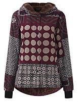 cheap -Women's Winter Parka Color Block Polyester Wine / Black S / M / L