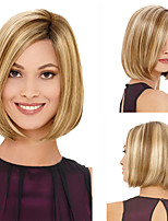 cheap -Synthetic Wig Matte kinky Straight Bob Wig Short Light golden Synthetic Hair 6 inch Women's Classic Easy dressing Best Quality Blonde