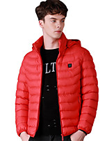 cheap -Men's Hiking Jacket Hiking Windbreaker Winter Outdoor Windproof Warm Comfortable Winter Jacket Top Single Slider Camping / Hiking / Caving Traveling Winter Sports Black / Red