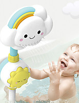 cheap -Multi-directional Baby Rainbow Shower Children Kids Bath Cloud Flower Spray Water Shower Head Tub Faucet Bathroom Funny Toys
