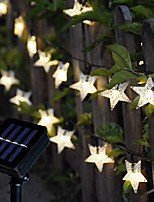 cheap -5m String Lights 20 LEDs EL 1Set Mounting Bracket 1 set Warm White / RGB Christmas / New Year's Solar Solar Powered