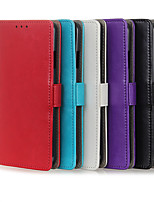 cheap -Case For OPPO OPPO Reno3 / OPPO A91 / OPPO F15 Card Holder / Shockproof Full Body Cases Solid Colored PU Leather