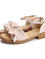 cheap -Women's Sandals Summer Block Heel Open Toe Sweet Daily Outdoor Suede Pink / Black