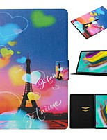 cheap -Case For Samsung Galaxy Tab A 10.1(2019)T510/Tab A 8.0(2019)T290/295 /Tab S6 T860/865 Card Holder / with Stand/Pattern Full Body Cases Eiffel Tower PU Leather For Tab S6lite P610/P615/Tab S5E T720