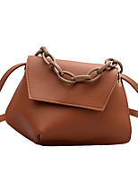 cheap -Women's Chain Polyester / PU Top Handle Bag Leather Bags Solid Color White / Black / Blushing Pink / Fall & Winter