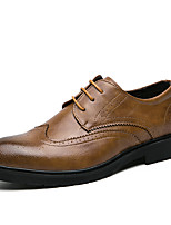 cheap -Men's Summer Business / Classic Daily Office & Career Oxfords Faux Leather Non-slipping Wear Proof Black / Yellow / Brown
