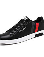 cheap -Men's Spring & Summer / Fall & Winter Classic / British Daily Outdoor Sneakers Walking Shoes Leather Breathable Wear Proof White / Black / Royal Blue