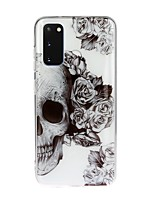 cheap -Case For Samsung Galaxy S10 5G/ Galaxy S20 Ultra / Galaxy S10E Transparent / Pattern Back Cover Skull TPU For Galaxy A51/A71/A20/A20E/A30/A50/A70/Note 10 Plus
