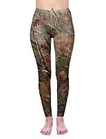 cheap -Women's Sporty Comfort Skinny Gym Yoga Leggings Pants Patterned Ankle-Length Print High Waist Green