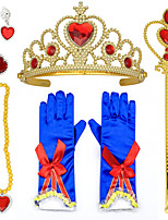cheap -Princess Princess Cosplay Jewelry Accessories Girls' Movie Cosplay RedYellow 1 Ring Gloves Crown Children's Day Masquerade Plastics / Necklace / Earrings / Wand