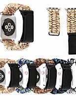cheap -Apply to Apple Watch Strap Woven  Bracelet With Velcro Strap 42/44 mm Series 5 4 3 2 1 38/40 mm iWatch Umbrella Rope Cord Ring Magic Stick