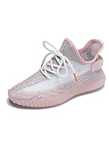 cheap -Women's Trainers / Athletic Shoes 2020 Summer / Fall Flat Heel Round Toe Casual Sweet Daily Outdoor Flower Floral Glow in the Dark Tissage Volant Running Shoes / Walking Shoes White / Black / Pink