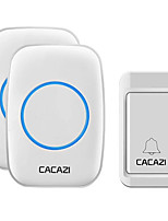 cheap -CACAZI A10G Wireless Doorbell Self-powered No batteries Waterproof Button 120M Remote LED Light Home Cordless Bell 38 Chimes