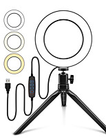 cheap -Photo LED Selfie Ring Fill Light 10inch Dimmable Camera Phone 26CM Ring Lamp With Stand Tripod For Makeup Video Live Studio