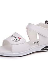 cheap -Girls' Comfort PU Sandals Little Kids(4-7ys) White / Black / Pink Summer