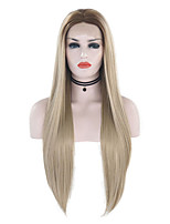 cheap -Synthetic Lace Front Wig Straight Middle Part Lace Front Wig Blonde Long Blonde Synthetic Hair 18-26 inch Women's Cosplay Soft Party Blonde