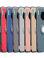 cheap -Case For Huawei Huawei P40/P40 Pro/P40 Lite/P30/P30 Pro/P30 Lite/P20/P20 Pro/P20 Lite/Mate 30/Mate 30 Pro/Mate 20 /Mate20 Pro  Shockproof / Ring Holder Back Cover Solid Colored TPU / Plastic