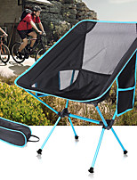 cheap -Camping Chair with Side Pocket Waterproof Portable Breathable Anti-Slip Aluminum Alloy Mesh Oxford for 1 person Camping / Hiking Hunting Fishing Beach Autumn / Fall Summer Black Red Orange Green