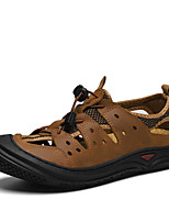 cheap -Men's Summer Casual Outdoor Beach Sandals Water Shoes / Upstream Shoes Nappa Leather Breathable Non-slipping Wear Proof Light Brown / Dark Brown / Black
