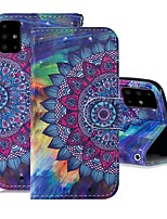 cheap -Case For Samsung Galaxy A51/ Galaxy A20e / Galaxy Note 10 Plus Wallet / Card Holder / with Stand Full Body Cases Flower PU Leather For Galaxy A71/A10S/A20S/M30S/A2 Core/A10E