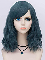 cheap -Synthetic Wig Curly Loose Curl Halloween Asymmetrical Wig Medium Length Natural Black Synthetic Hair 24 inch Women's Best Quality Black
