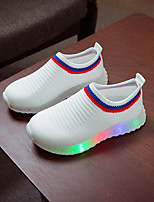 cheap -Girls' LED Shoes Polyester Trainers / Athletic Shoes Little Kids(4-7ys) / Big Kids(7years +) White / Black / Gray Spring / Summer
