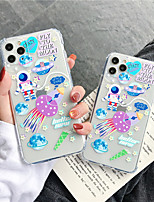 cheap -Apple Case For iPhone7 8 7plus 8plus  XR XS XSMAX  X SE 11 11Pro 11ProMax Pattern Back Cover Word Phrase Cartoon TPU