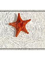 cheap -Starfish Print High Quality Memory Foam Bathroom Carpet and Door Mat Non-slip Absorbent Super Comfortable Flannel Bathroom Carpet Bed Rug