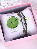 cheap -Women's Quartz Watches New Arrival Colorful Grey Rubber Chinese Quartz Green Rainbow Chronograph Cute Creative 2 Piece Analog One Year Battery Life