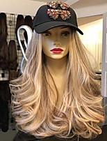 Недорогие -Парики из искусственных волос Кудрявый Средняя часть Парик Очень длинный Светло-золотой Искусственные волосы 26 дюймовый Жен. Модный дизайн вьющийся пушистый Блондинка