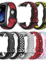 Недорогие -двухцветный силиконовый ремешок для samsung gear fit 2 pro / fit 2 замена спортивного ремешка браслет ремешок для часов для samsung gear fit 2 pro / fit 2