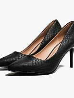 cheap -Women's Heels Summer Stiletto Heel Pointed Toe Daily PU White / Black / Beige