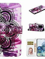 cheap -Case For Samsung Galaxy S20 / Galaxy S20 Plus / Galaxy S20 Ultra Wallet / Card Holder / with Stand Full Body Cases Purple Flower PU Leather / TPU for Galaxy A51 / A71 / A80 / A70 / A50 / A30S / A20