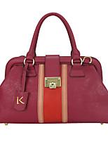 cheap -Women's Cowhide Evening Bag / Top Handle Bag Floral Print Red