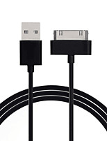 cheap -Usb data charger cable for iphone 4 4s ipod nano ipad 2 3 iphone 4 s 30 pin 1m cord usb charging cable kabel cargador